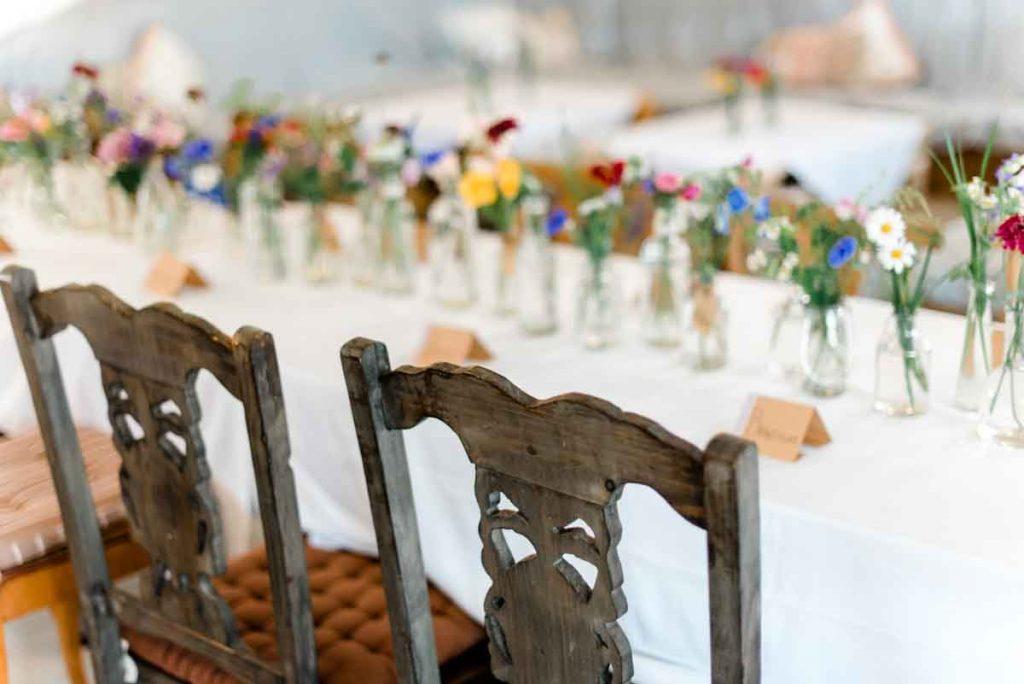 Wald und Wiesenblumen Hochzeit