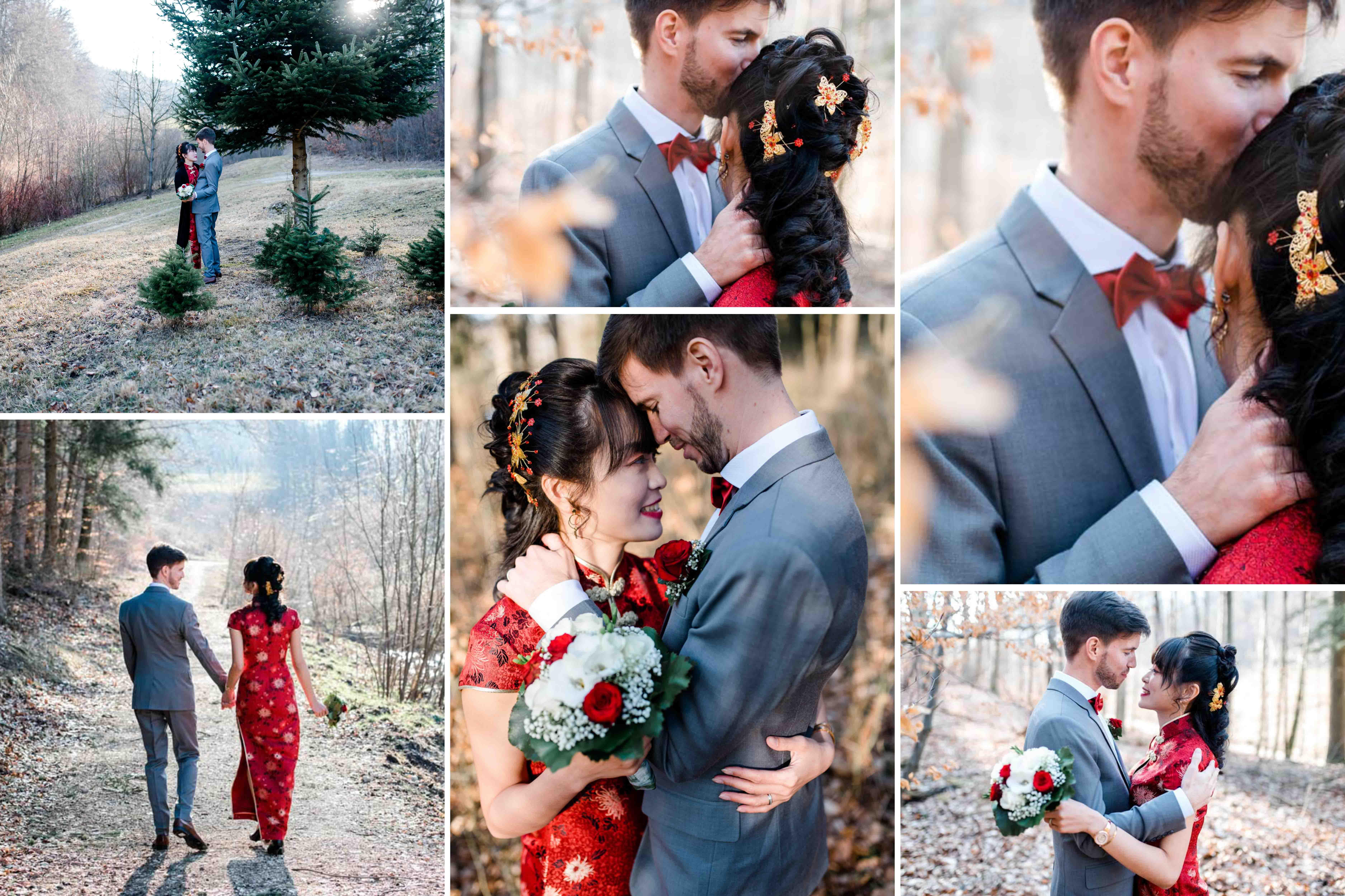 Zeitpunkt Paarshooting am Hochzeitstag