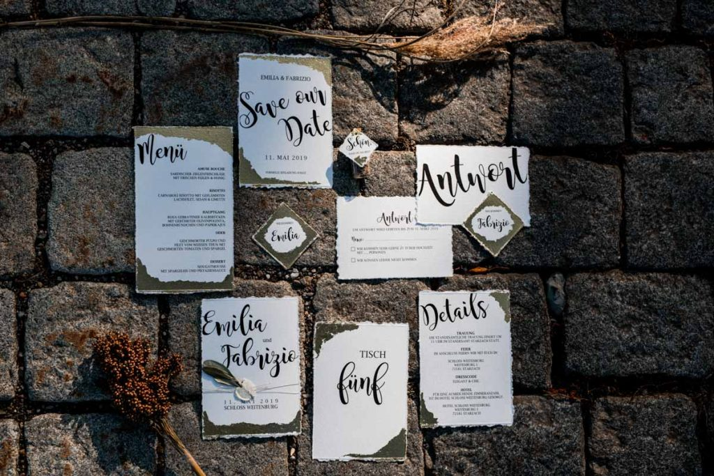 Einladungskarten Hochzeit Stuttgart, Goldmädchen Manufaktur
